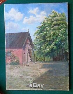 Huile Antique Signé Peinture Grande-duchesse Olga Romanov Ballerup Impériale Russe