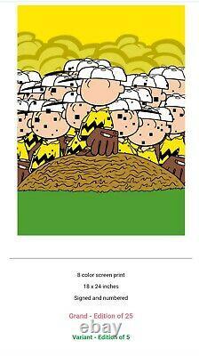 Imprimé Jerkface Grand Limited Edition (2/25) 18 X 24 Charlie Brown