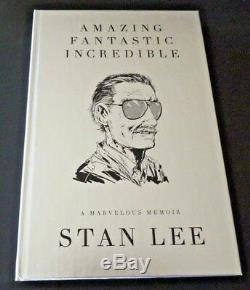 Incroyable Fantastique Incroyable Stan Lee Deluxe Signé Autograph Livre Bas Certified