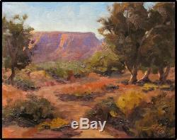 Jeff Original Love Peinture À L'huile Grand Canyon Rim National Park Couleur Paysage