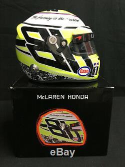 Jenson Button Signe Casque 1/2 Échelle, 2016 Dernière Formule 1 Grand Prix. Drm, Coa