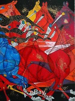Jiang Tiefeng Blue Lady Delux Artiste Édition Agrémentée -1985 Serigraph