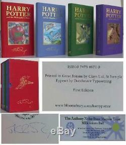 Jk Rowling / Harry Potter Deluxe Set Signé # 0105986