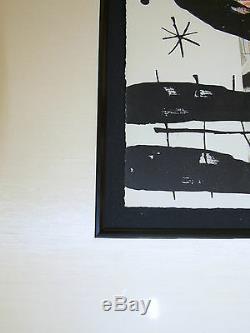 Joan Miro, 2 Lithographies Originales, Sur Peintures M. 379 Cartons, Deluxe Avec Signé