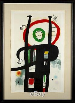 Joan Miro Le Grand Ordinateur Eau-forte Peinture À L'aquatinte Et Au Carborundum Menthe