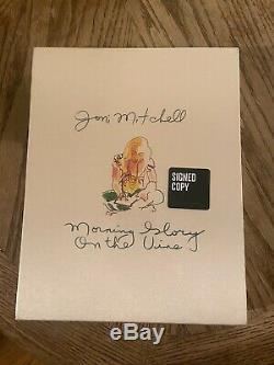 Joni Mitchell Morning Glory Sur La Vigne Deluxe Signé Autographié Livre Complet