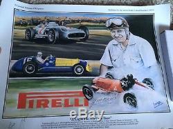 Juan Manuel Fangio Signé Imprimer Véritable Autograph F1 Champion Du Monde Grand Prix