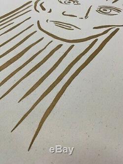 Keith Haring 1986 Sérigraphie Sur Toile Beuys Rare De Luxe A / P Signe # 'd