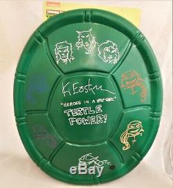 Kevin Eastman Signé Rubies Tmnt Deluxe Licence Carapace De Tortue Avec 8 Sketches Jsa