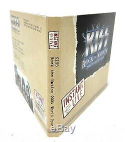 Kiss Instant Live Signe Autographed CD 2004 Rock Nation Tournée Grand Prix + Carte