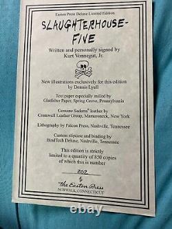 Kurt Vonnegut Signé Slaughterhouse Five 5 Deluxe Easton Press New Leather