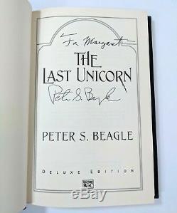 La Dernière Licorne Peter Beagle Première Édition Signe Hb Dj Deluxe Edition 2007