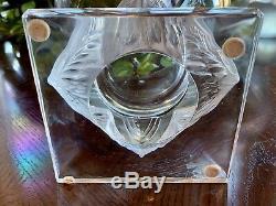 Lalique Grand Vase En Cristal 9.5 Ducs Grand, Mint, Signée, Magnifique, Authentique