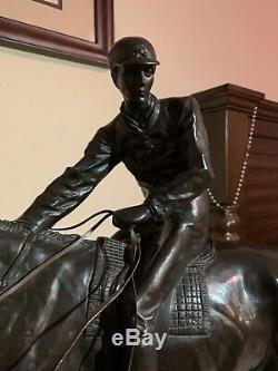 Le Grand Jockey Après Isidor Bonheur, Estimation @ Bonhams Pour 8k- $ 12k $, Bronze