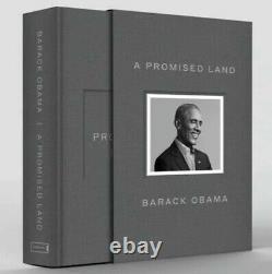 Le Président Barack Obama A Signé Une Terre Promise Deluxe 1er Ed Autographié À La Main