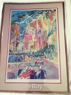 Leroy Neiman Grand Prix De Monaco 182/300 Signé Sérigraphique Retail 11500 $