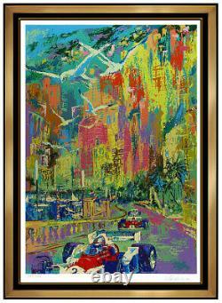Leroy Neiman Grand Prix De Monaco Grande Couleur Originale Serigraph Car Racing F1