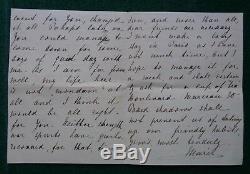 Lettre Antique Signé Grande-duchesse Maria Pavlovna L'ancien Romanov De La Russie