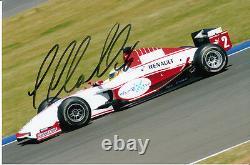 Lewis Hamilton Signée À La Main Art Grand Prix Gp2 Photo 9x6