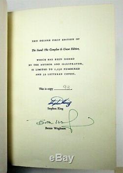 Limitée Signe Ed Le Fléau De Stephen King 1990 Box Deluxe First Cuir Lié