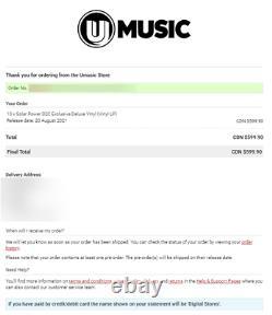 Lorde Signé Solar Power D2c Exclusive Deluxe Vinyl Autographié Ordre Confirmé