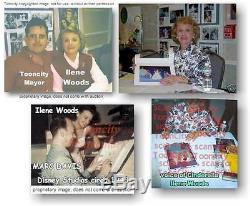 Main Cadre De Luxe Signé Real 1950 Cendrillon Disney Voix Ilene Woods Rêves