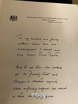 Margaret Thatcher A Signé Downing Street Années Édition Deluxe Sle Originale