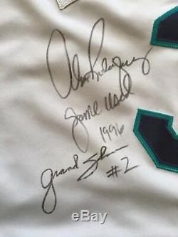 Mariners Alex Rodriguez 1996 Portés Et Signé Grand Slam Utilisé Baseball Jersey