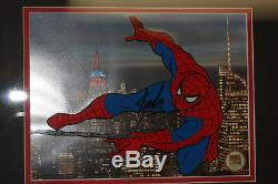 Marvel Spider-man, Spidy Deluxe- Sericel Signé Par Stan Lee Photo + Marqueur Utilisé