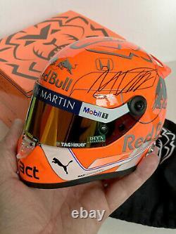 Max Verstappen A Signé Casque À 12 Échelles, 2019 Spa F1 Grand Prix Spécial Mib + Coa