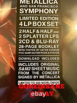 Metallica S & M2 Limited Edition Signée Deluxe Box Ensemble Neuf, Non Ouvert