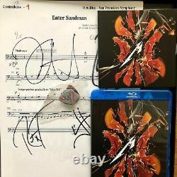 Metallica S & M2 Signé Super Deluxe Box Set Ltd 500 Entrez Feuille Sandman! Rare
