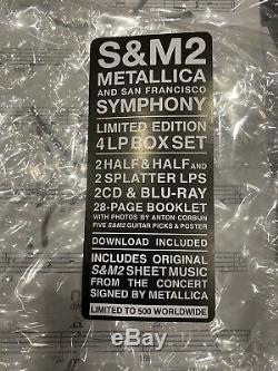 Metallica S & M2 Super Deluxe Box Set Withband 500 Signée Limitée Autographes
