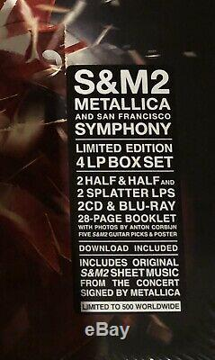 Metallica S & M2 Super Deluxe Lp Vinyle Coffret Signé Par Band Sealed