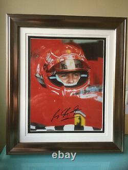 Michael Schumacher Formule F1 Signé Photo Encadrée Champion Du Monde Grand Prix Uacc