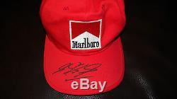 Michael Schumacher Signée À La Main Marlboro / Ferrari 2006 Grand Prix Cap
