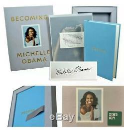 Michelle Obama Signe De Luxe Edition Devenir Livre Autographié Withcoa 1ère Édition