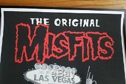 Misfits Las Vegas Mgm Grand Affiche Dédicacée Dantzig Rare Phosphorescent Samhain