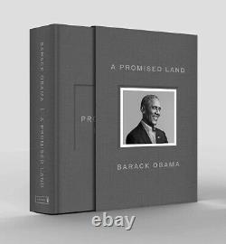 Navires Aujourd'huibarack Obama A Signé Un Livre De Luxe Terre Promise Autographié Nouveau