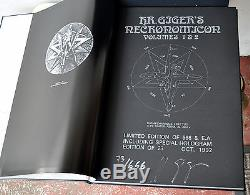 Necronomicon 1 & 2 H Giger Deluxe Leather Le1 / 666 Signé Litho Qliphoth Rare