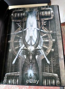 Necronomicon 1 & 2 H R Giger Deluxe En Cuir Le1 / 666 Signé Litho Qliphoth Rare
