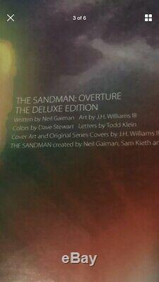 Neil Gaiman Sandman Overture Signé Le Deluxe Edition / 300 Autograph Rêve