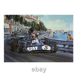 Nicholas Watts Monaco Grand Prix 1973 Signé Stewart Tyrrell Gardner Fittipaldi