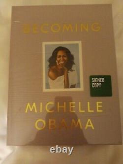 Nouveau Deluxe Becoming Signed Edition Par Michelle Obama 2019 / Relié Sealed