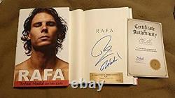 Nouveau Rafael Nadal Rafa Signé Livre Hc 1/1 Dj Coa Tennis 19 Tournois Du Grand Chelem De Wimbledon