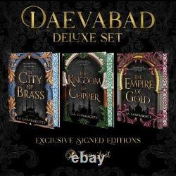 Nouveau Signé Fairyloot Daevabad Deluxe Trilogie S. A. Chakraborty Avec Bords Au Pochoir