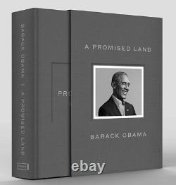 Nouvelle Sealed A Promise Land Deluxe 1ère Édition Signée Par Barack Obama En Main