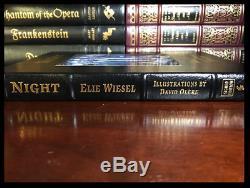 Nuit Signée Par Elie Wiesel Easton Press Leather Bound Deluxe Limitée # 818/850