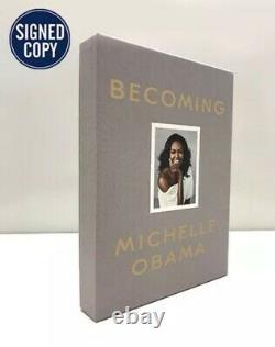 Obama Michelle Main Autosigné Limited Edition Deluxe Livre Président Devenir