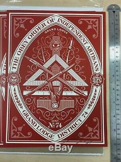 Obéissez District Shepard Fairey Grande Loge 74 Print Signé